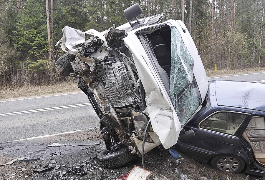 BUS uczestniczący w wypadku 1