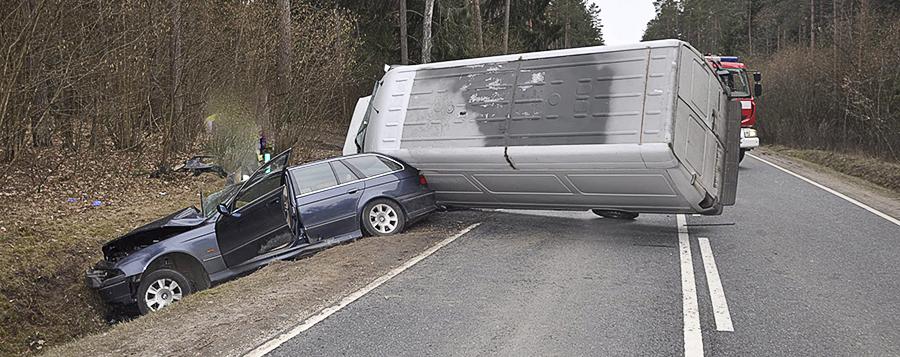 Wypadek na trasie Ruciane-Nida-Zgon