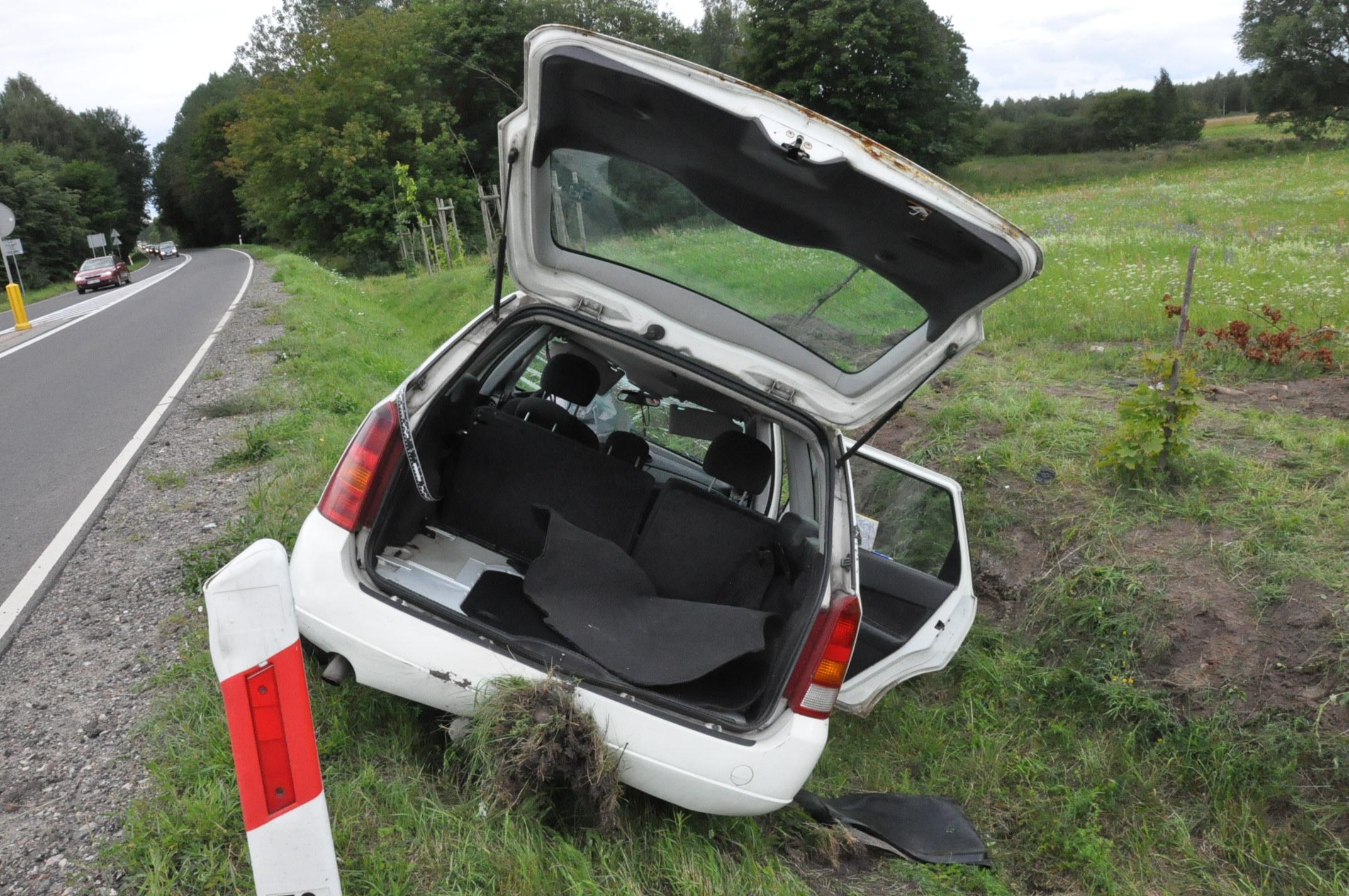 Ford Focus biorący udział w wypadku